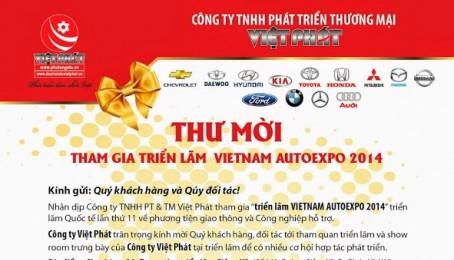 Thư mời tham gia triển lãm VIETNAM AUTOEXPO 2014