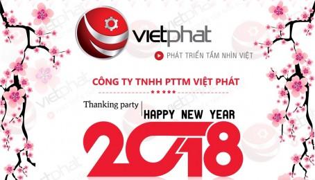 """""""THANKING PARTY HAPPY NEW YEAR"""" CÙNG TIẾP LỬA CHO VIỆT PHÁT NGÀY CÀNG VƯƠN XA"""