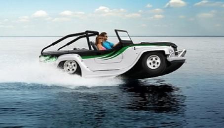 Độc đáo ô tô chạy dưới nước