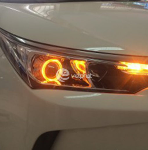 Độ Bi Q5, Vòng Angel, Led A8 cho Toyota Altis 2018
