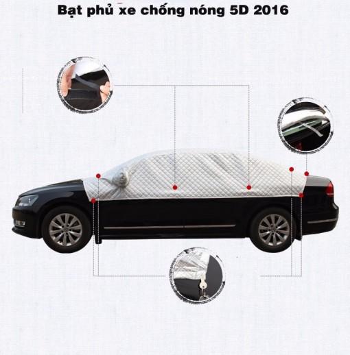 Bạt phủ 5D cách nhiệt, chống nóng xe hơi Việt Phát 1