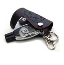 Bao da chìa khóa chỉ đỏ cho dòng xe Mercedes