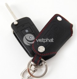 Bao da chìa khóa chỉ đỏ cho xe Hyundai