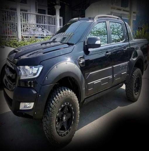 Ốp phồng cua lốp, cánh cửa, Ford Ranger