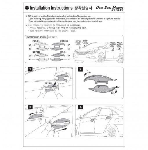 Ốp  hõm cửa Hyundai  New Santafe  2006~2011